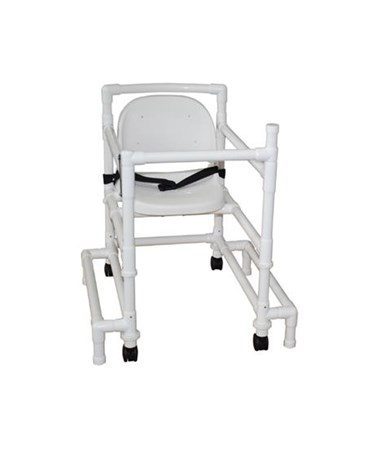 MJM 418-OR-3-FS Height Adjustable Walker with Full Support Seat and Outriggers
