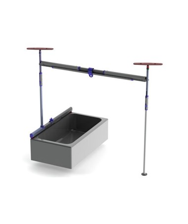 Pressure Fit 2-Post Bathtub Free Standing Track System PRS341520