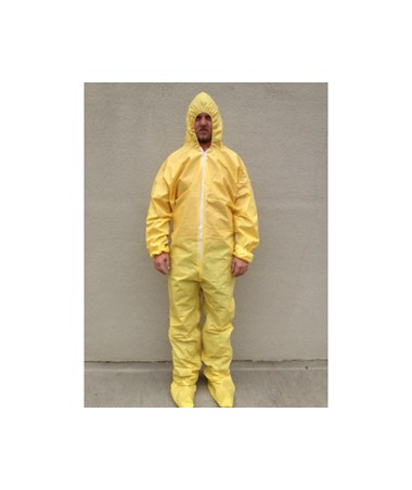 Yellow SunShield 100 Coverall with Taped Seams and Attached Hood and Boots SNTS5414S