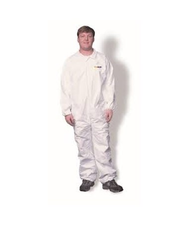 White Suntech Coverall with Front Zipper SNTSMP120