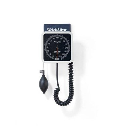 Welch Allyn Wall Aneroid with Reusable One-Piece Adult Cuff