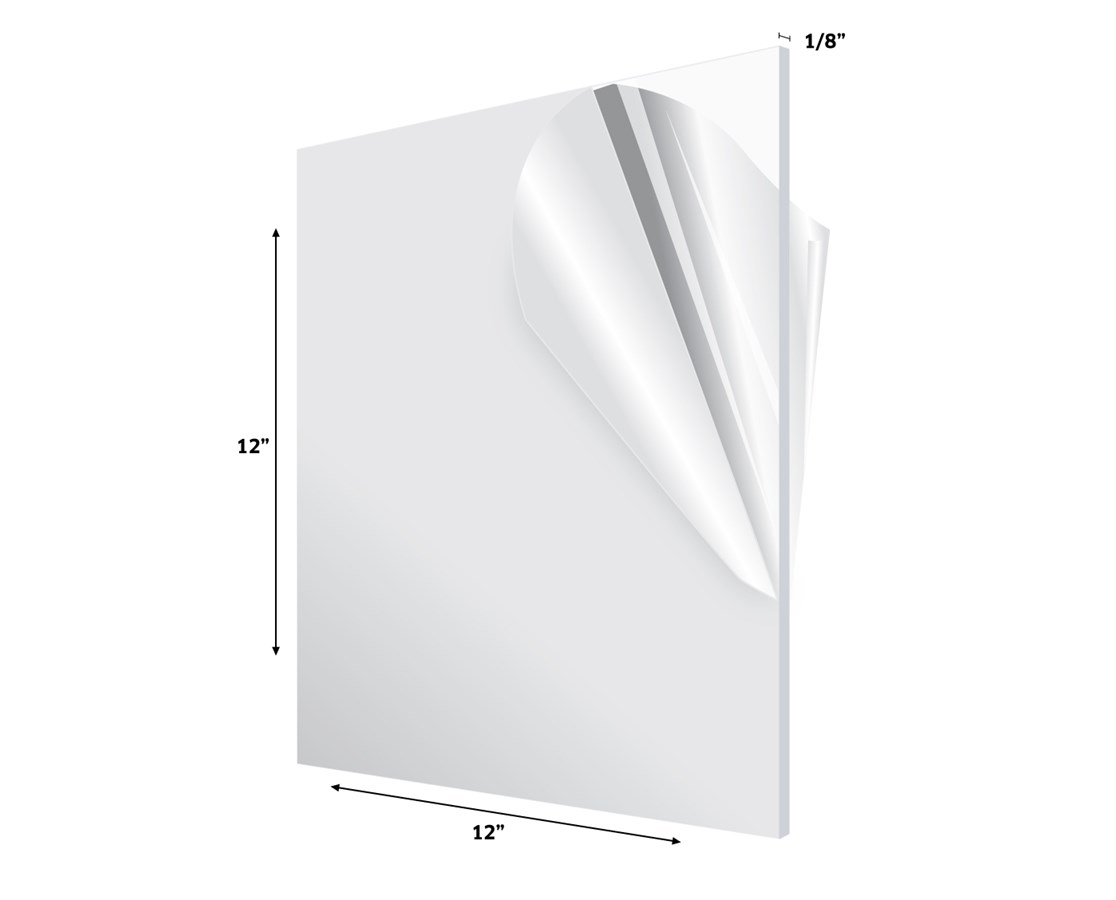 AdirOffice Acrylic Plexiglass Sheet 1/8 Inches Thick ADI1212-1-C