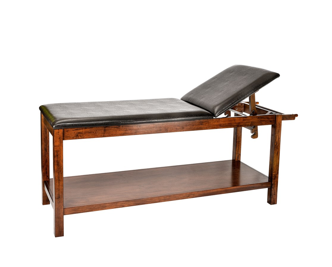 Wooden Exam Table with Full Shelf ADI996-03-MA