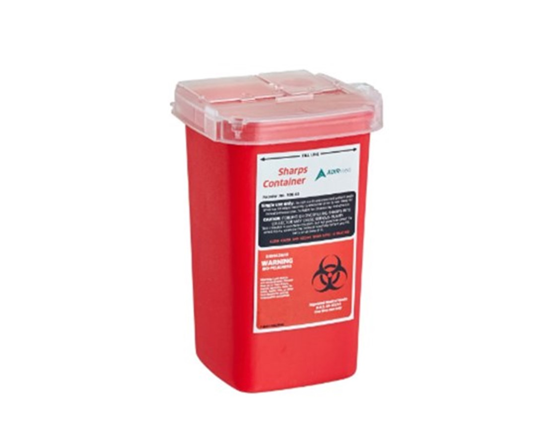 Sharps and Needle Disposal Container, 1 Quart ADI998-01-01-