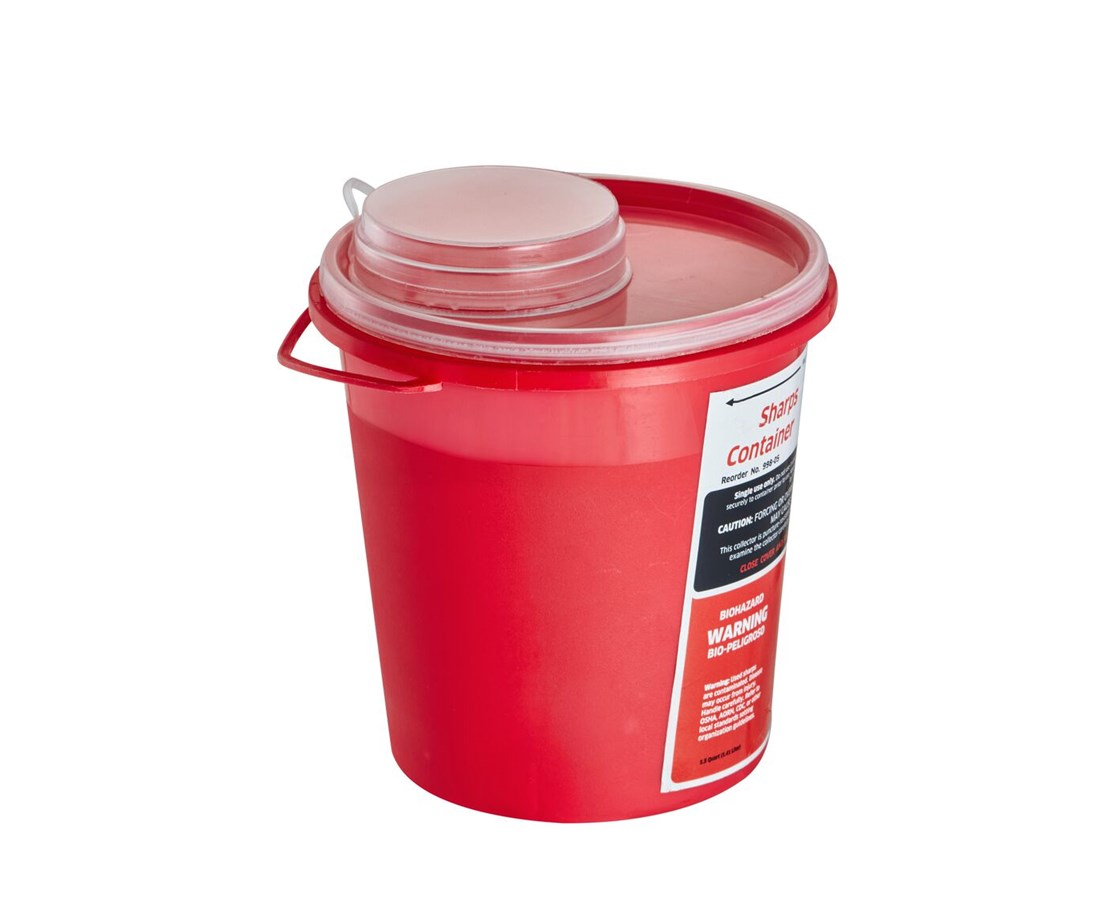 AdirMed Sharps Container, 1.5 Quart - Round-Shaped ADI998-05-01-