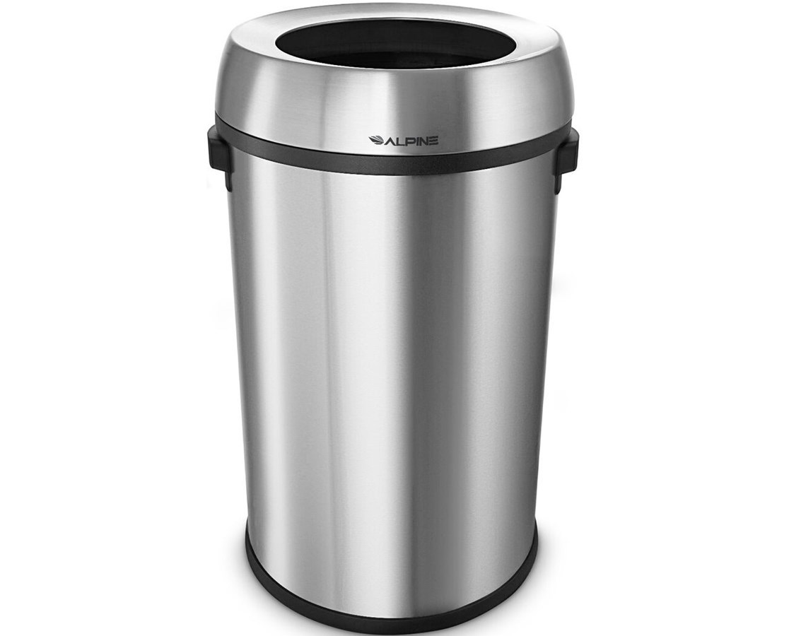 Alpine 17-Gallon Stainless Steel Open-Top Indoor Trash - Save at ...