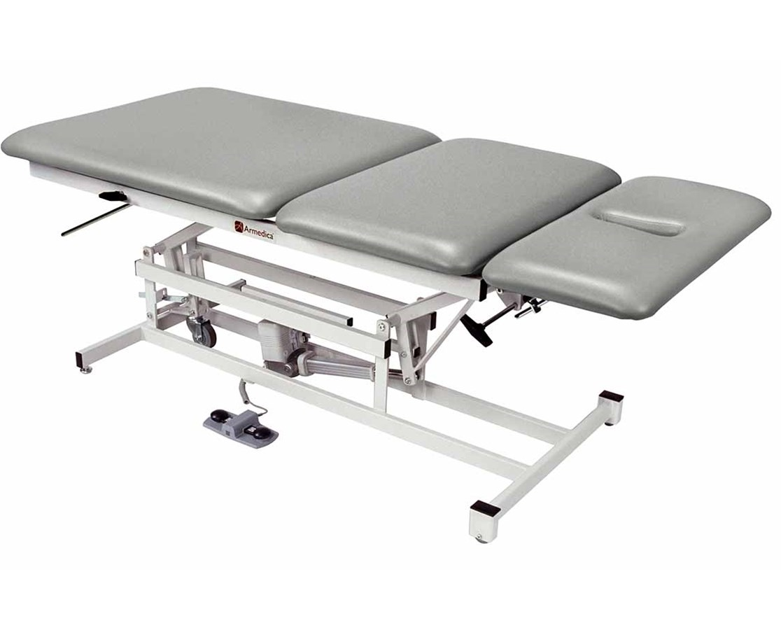 Hi-Lo Bariatric Treatment Table with Three Section Top ARMAM334-