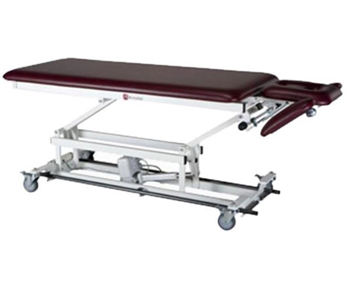 Hi-Lo Treatment Table with Two Section Top & Tilt Down Arms ARMAMBA250