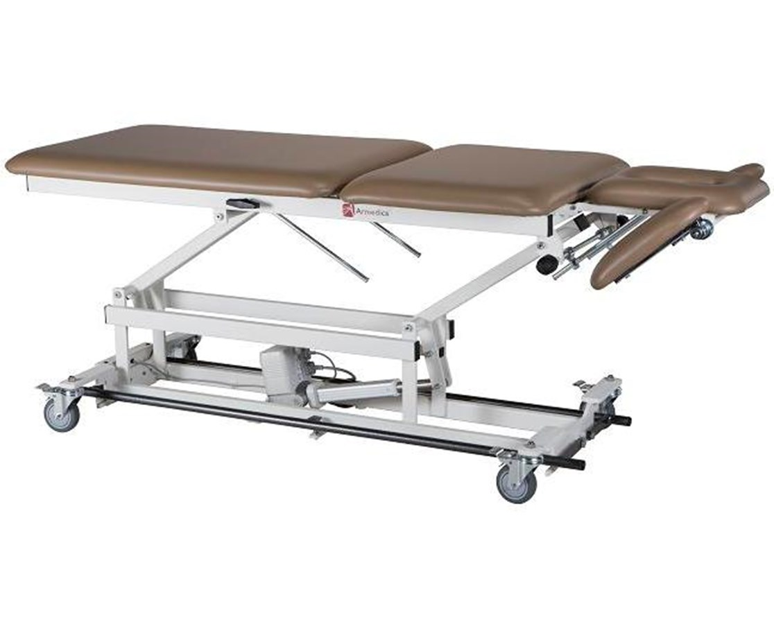 Hi-Lo Treatment Table with Three Section Top & Tilt / Adjustable Armrests Options ARMAMBA555-