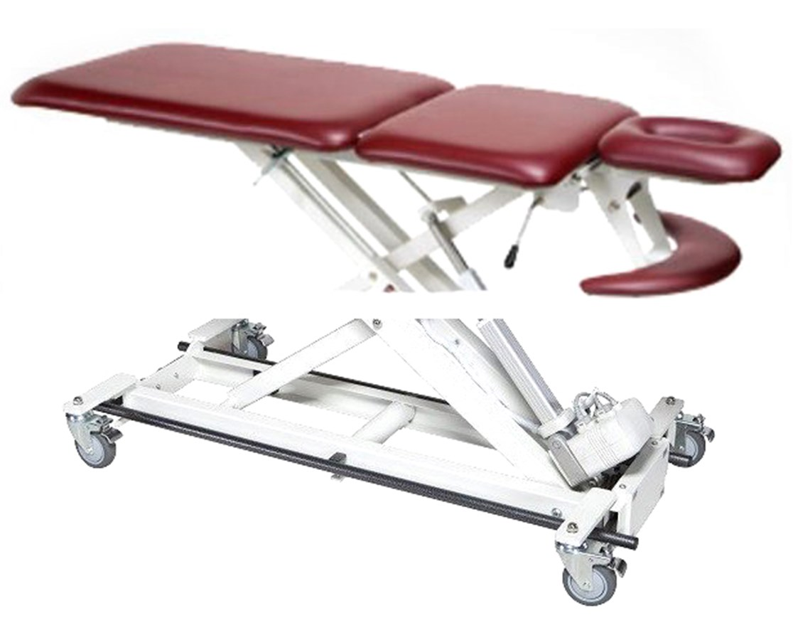 Hi-Lo Treatment Table with Three Section Top & Bar Activated Height Control ARMAMBAX5400
