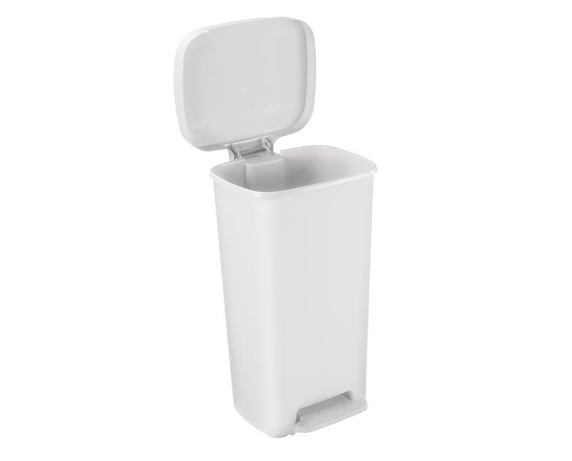 Rectangular Plastic Waste Can (White), 52 Quart (13 gallon) BRE25266