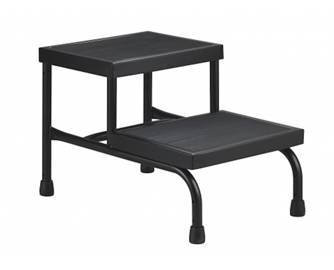 aluminum stool close ultraslim black folding slim step profile