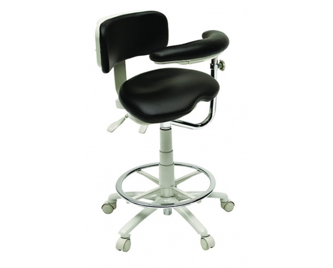9500 Series Premium Ergonomic Dental Assistant Stool BRE9520BL