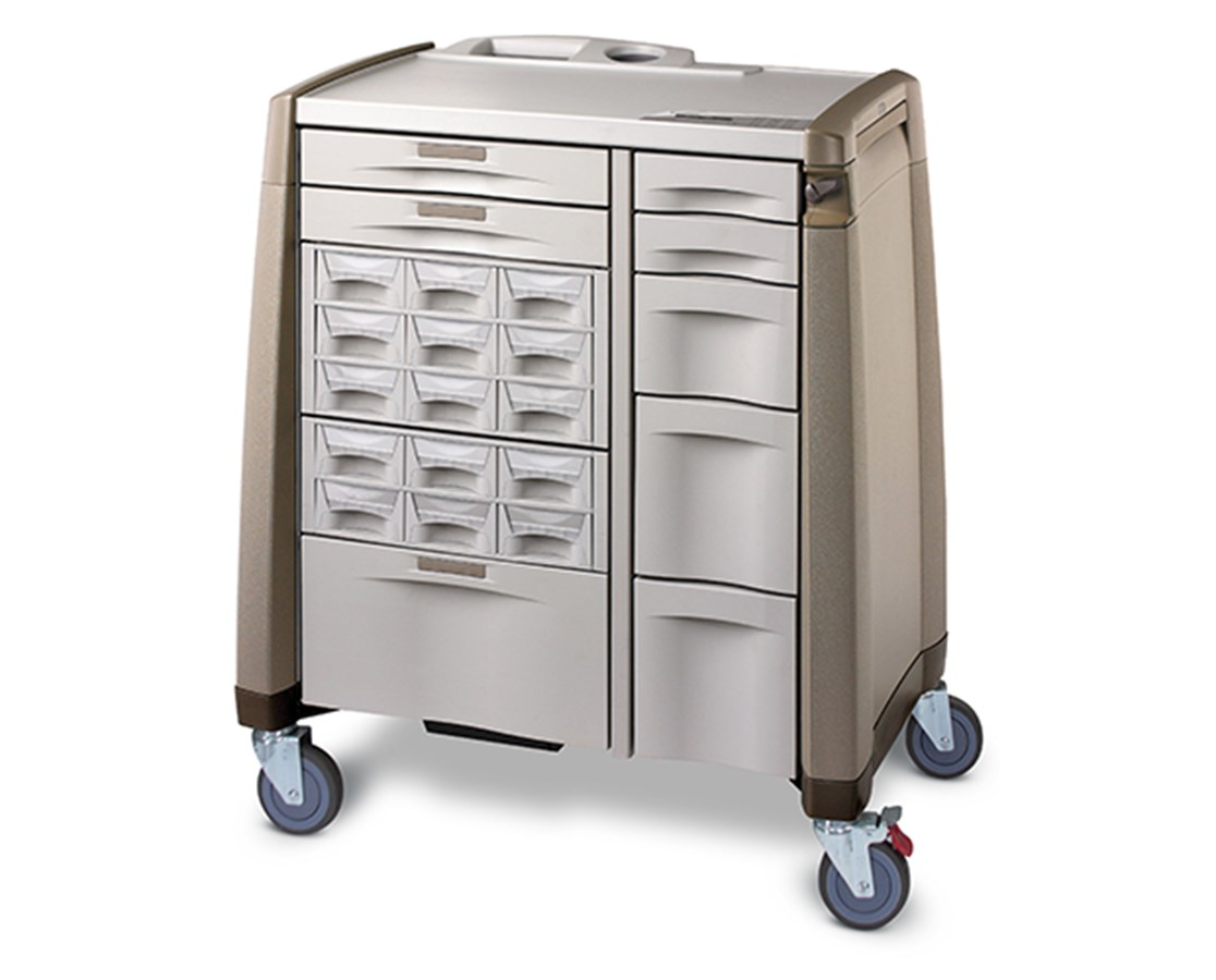 Avalo Series ACM Standard Bin Cassette Medication Cart CAPACM10
