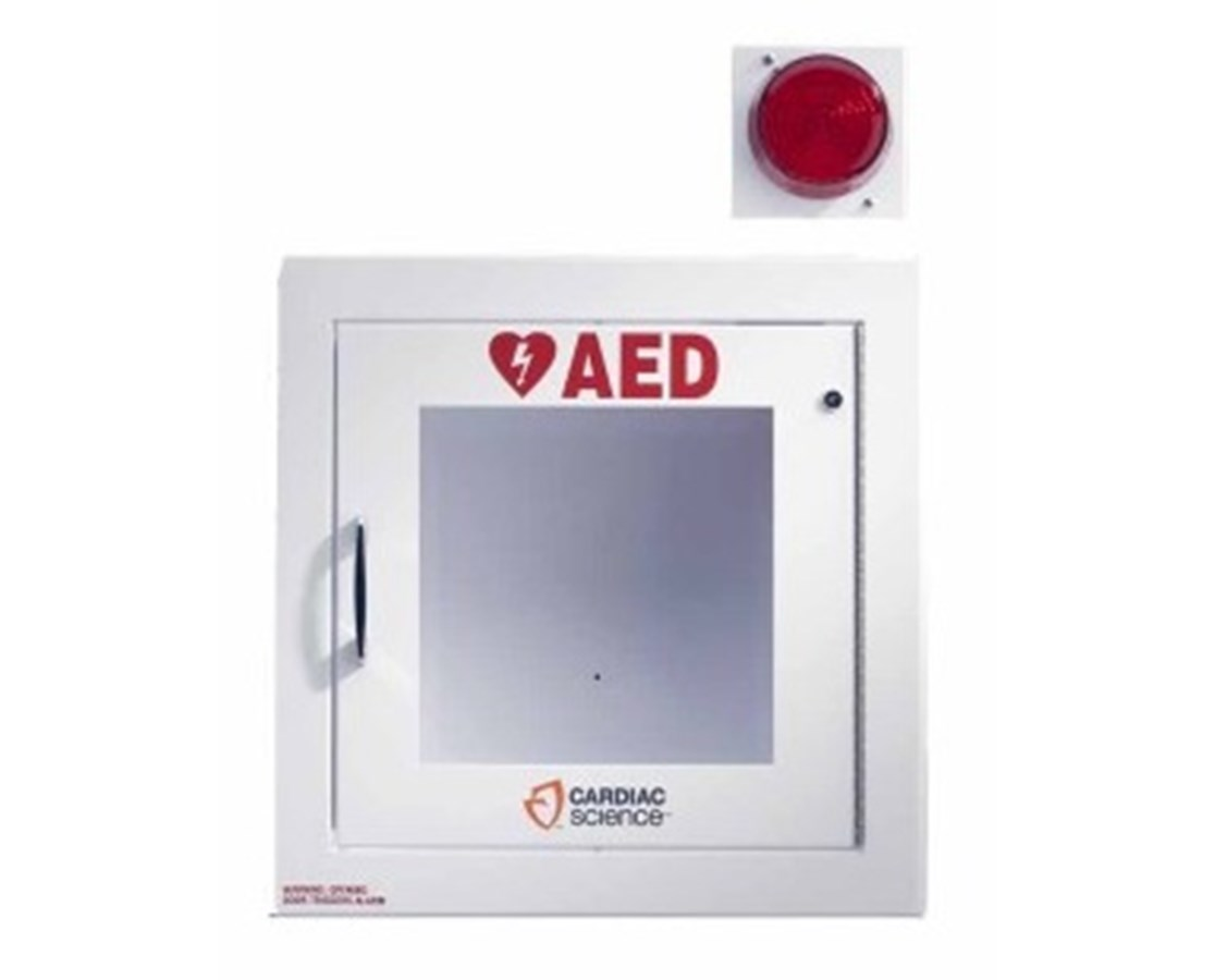 Cabinet with Alarm & Strobe Light for Powerheart AEDs CAR50-00400-30