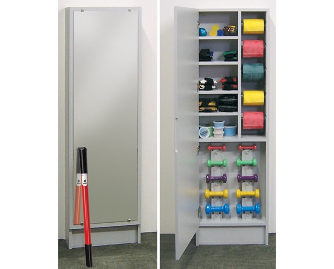 Element Series Hide-A-Way Cabinet with Weight Rack and Mirror CLI5145