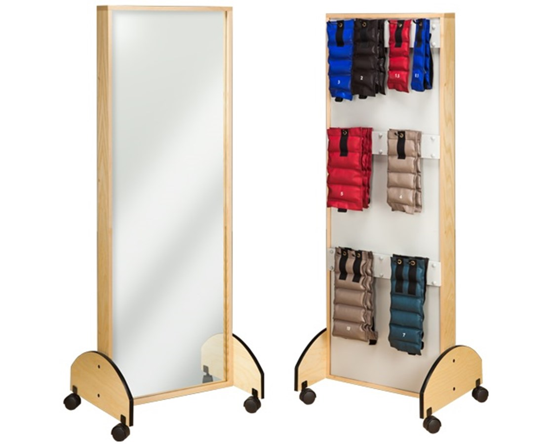 Mobile Adult Mirror with Cuff Weight Rack CLI6210-9