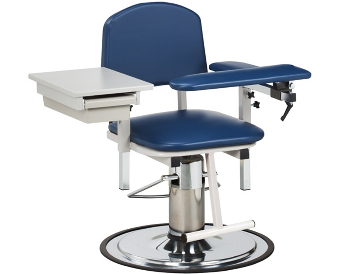 H Series Padded Blood Drawing Chair with Padded Flip Arm and Drawer CLI6320