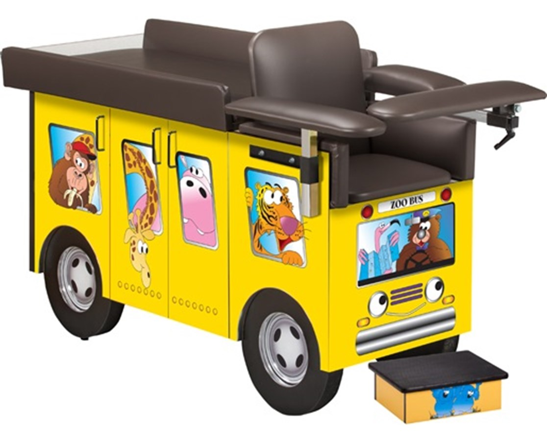 Pediatric Blood Drawing Station with Zoo Bus Graphics CLI67020