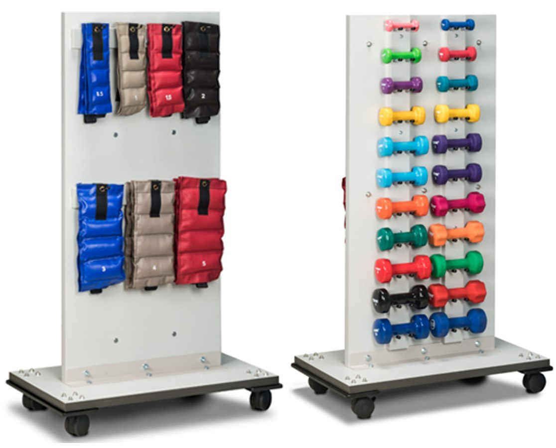Merit Series Cuff & Dumbbell Mobile Weight Rack CLI7027