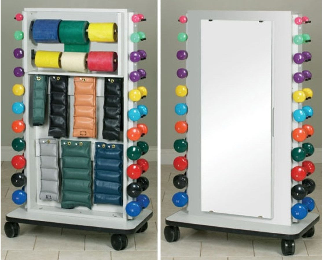 Merit Series Double Weight Rack with Mirror CLI7031