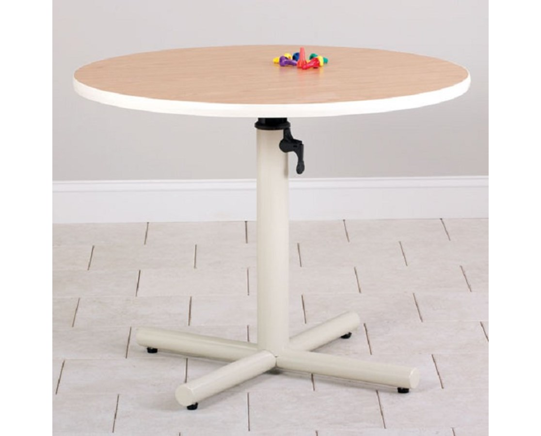Round Gas Spring Adjustable Work Activity Table CLI75-21G