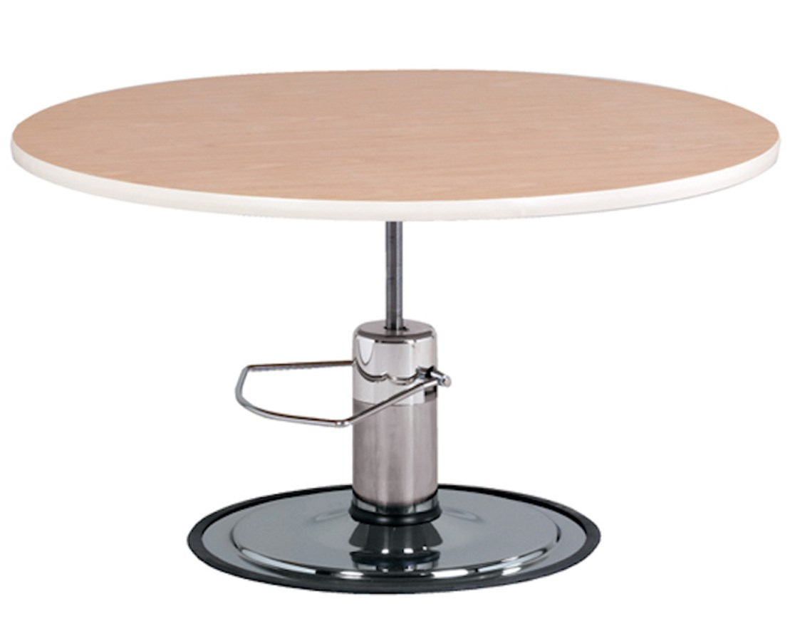 Round Laminate Top Hydraulic Work Activity Table CLI75-29H-