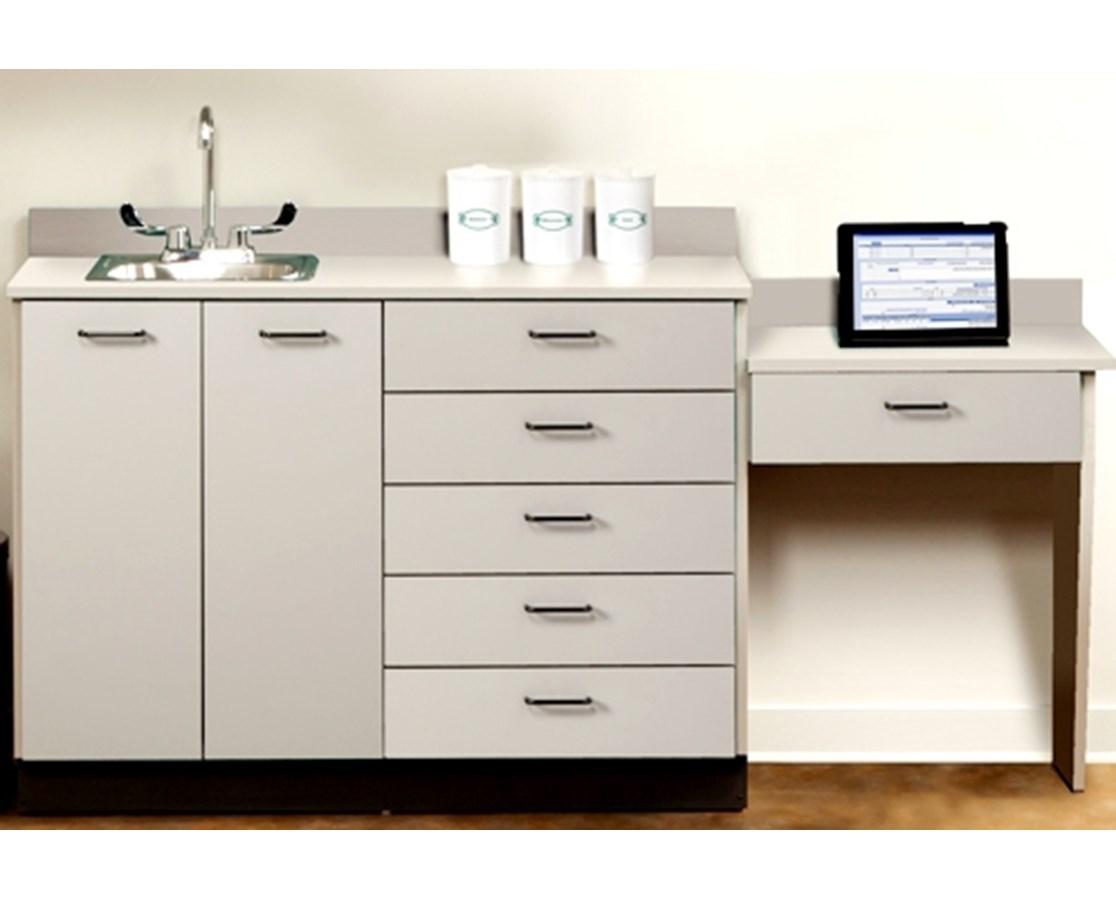 Base Cabinet Set With 2 Doors 6 Drawers Desk Sink