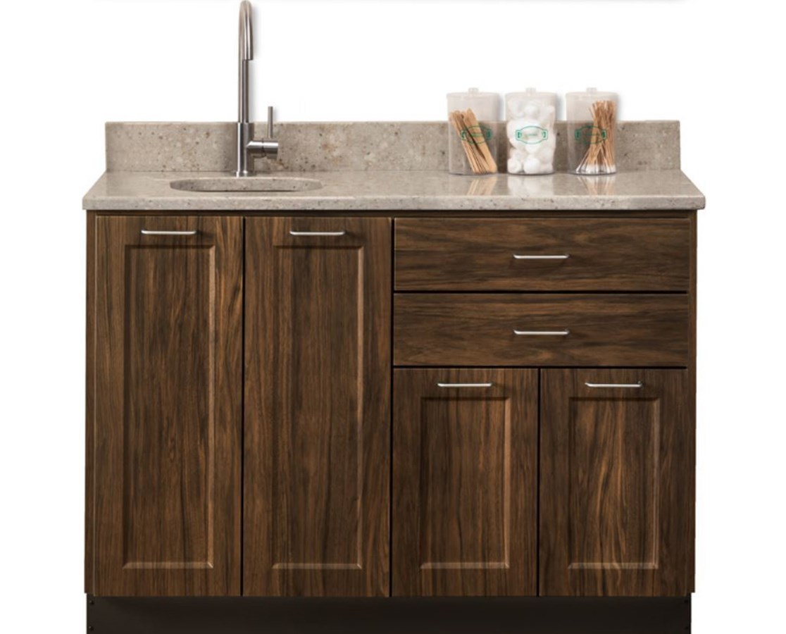 "Fashion Finish 48"" Base Cabinet - 4 Doors, 2 Drawers and Sink CLI8648-48P-"