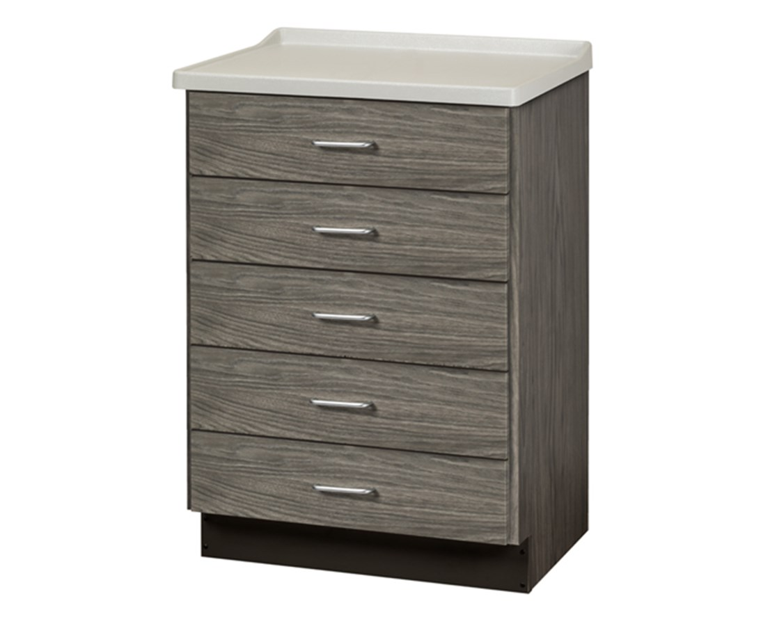 Fashion Finish Molded Top Treatment Cabinet with 5 Drawers CLI8805-AF