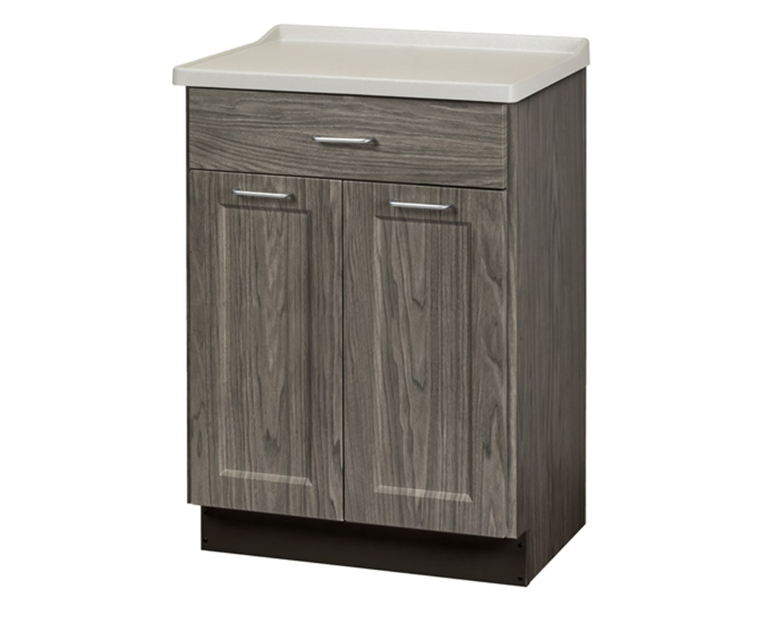 Fashion Finish Molded Top Treatment Cabinet w/ 2 Doors and 1 Drawer