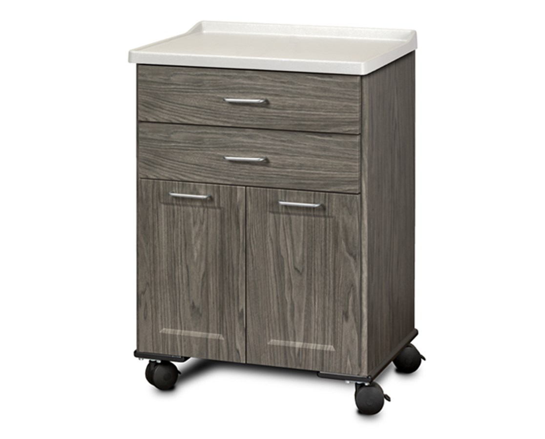 Fashion Finish Mobile Treatment Cabinet w/ Molded Top - 2 Doors and 2 Drawers CLI8922-AF