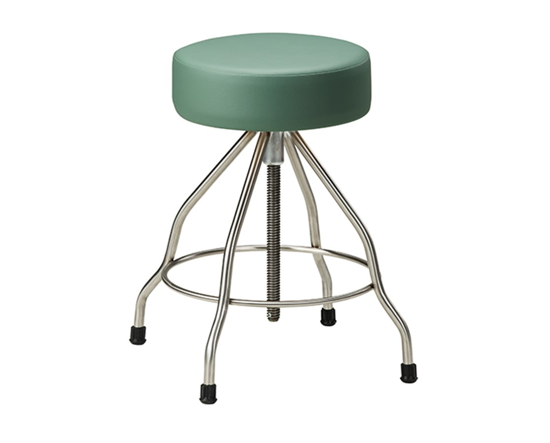 Stainless Steel Stool with Rubber Feet & Upholstered Top CLISS-2179