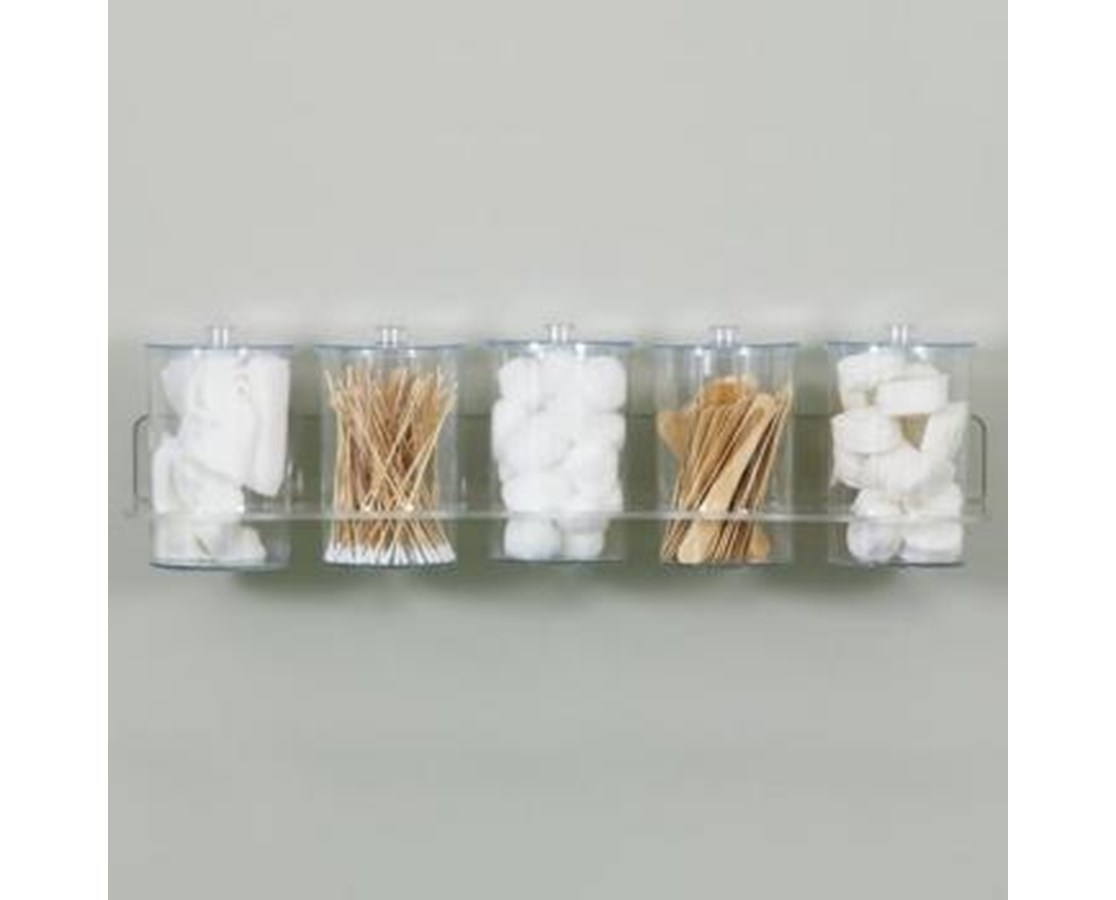 Clear Acrylic Wall Mount Jar Rack CLIT-88