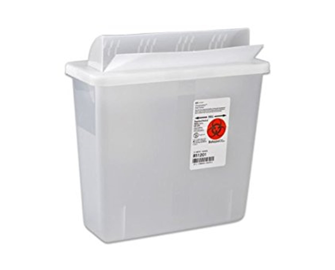 SharpSafety™ In Room Sharps Container, Always Open Lid COV85321-