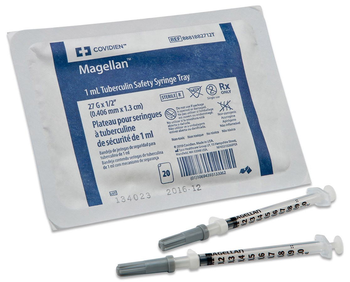 Covidien 8881882712 Magellan™ Tuberculin Safety Syringe with Needle