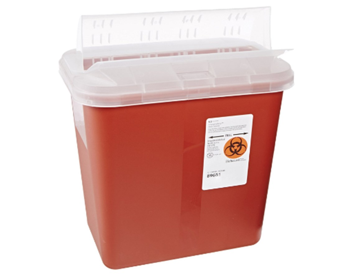 SharpSafety™ Sharps Container, Horizontal Drop COV89651-