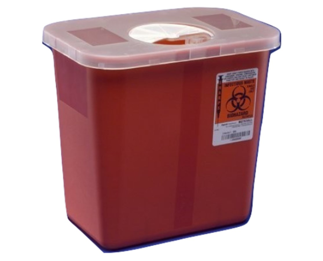 SharpSafety™ Sharps Container, Rotor Lid - 20/Cs COV8970