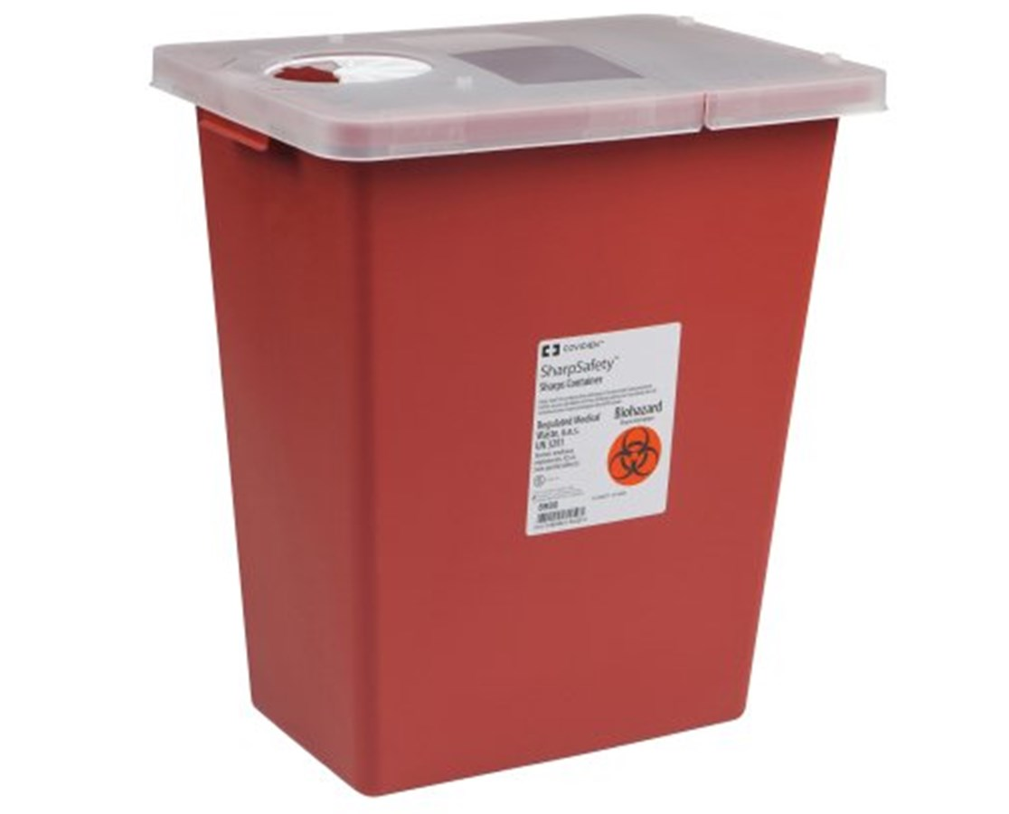 SharpSafety™ Sharps Container - Hinged Lid COV8980-