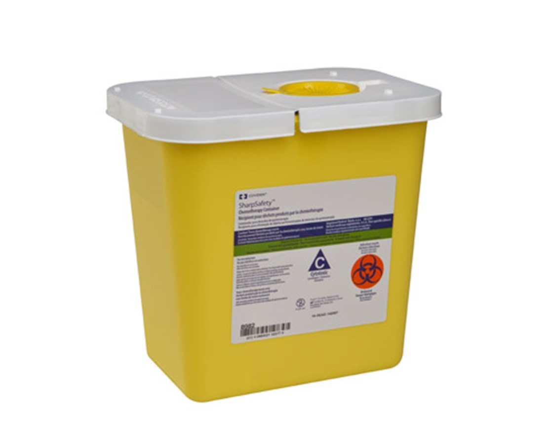 Chemosafety Sharps Container with Hinged Lid COV8982-