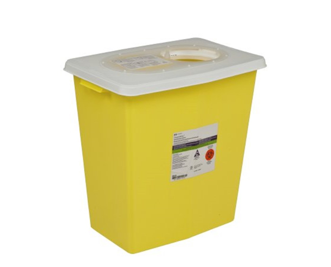 SharpSafety™ Chemotherapy Container - Hinged Lid COV8985-