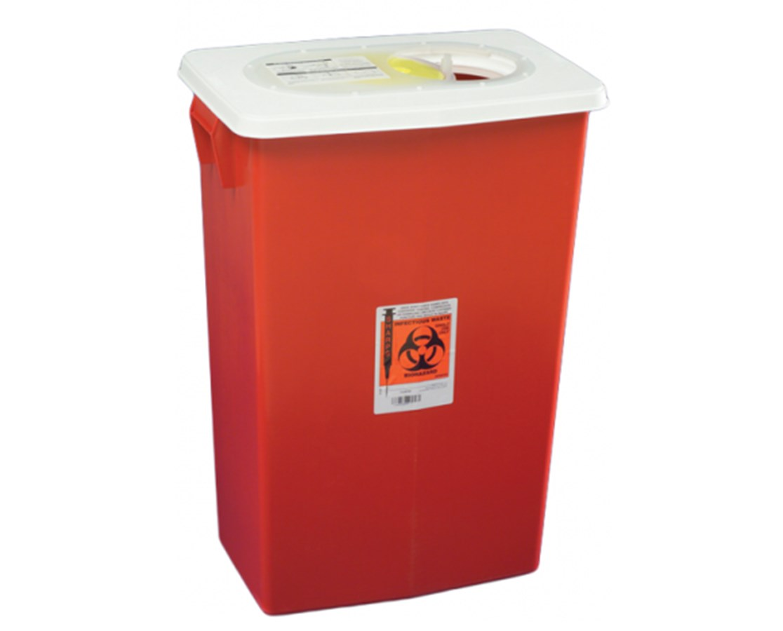 SharpSafety™ Sharps Container - Gasketed Slide Lid COV8998S-
