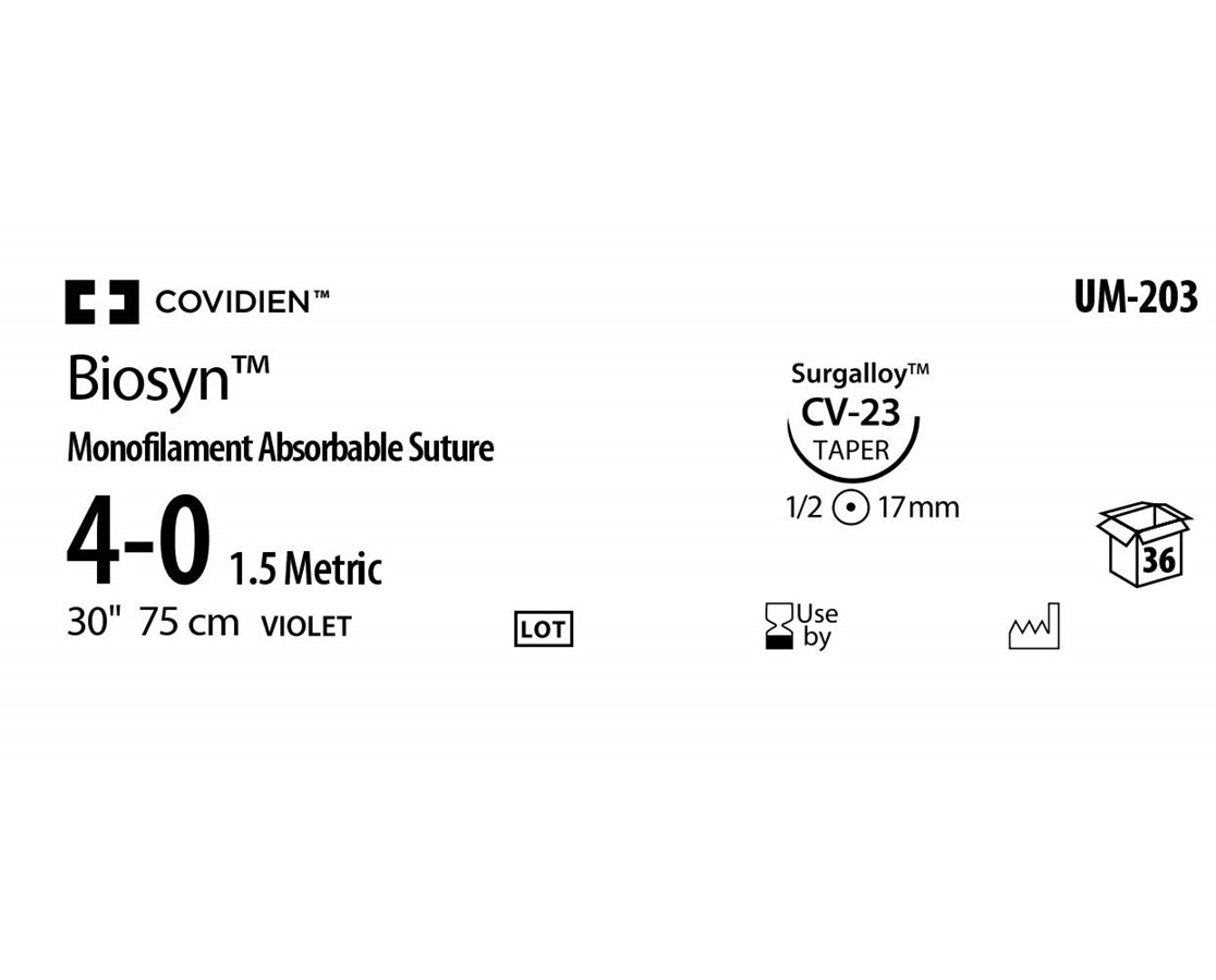 Biosyn™ Monofilament Absorbable Sutures COVUM203