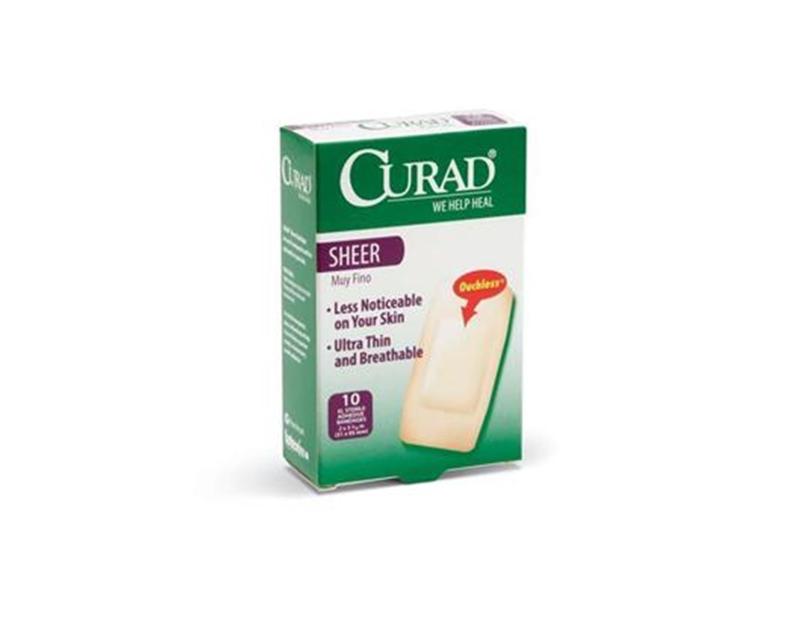 Sheer Adhesive Extra Large Bandages CURCUR02277