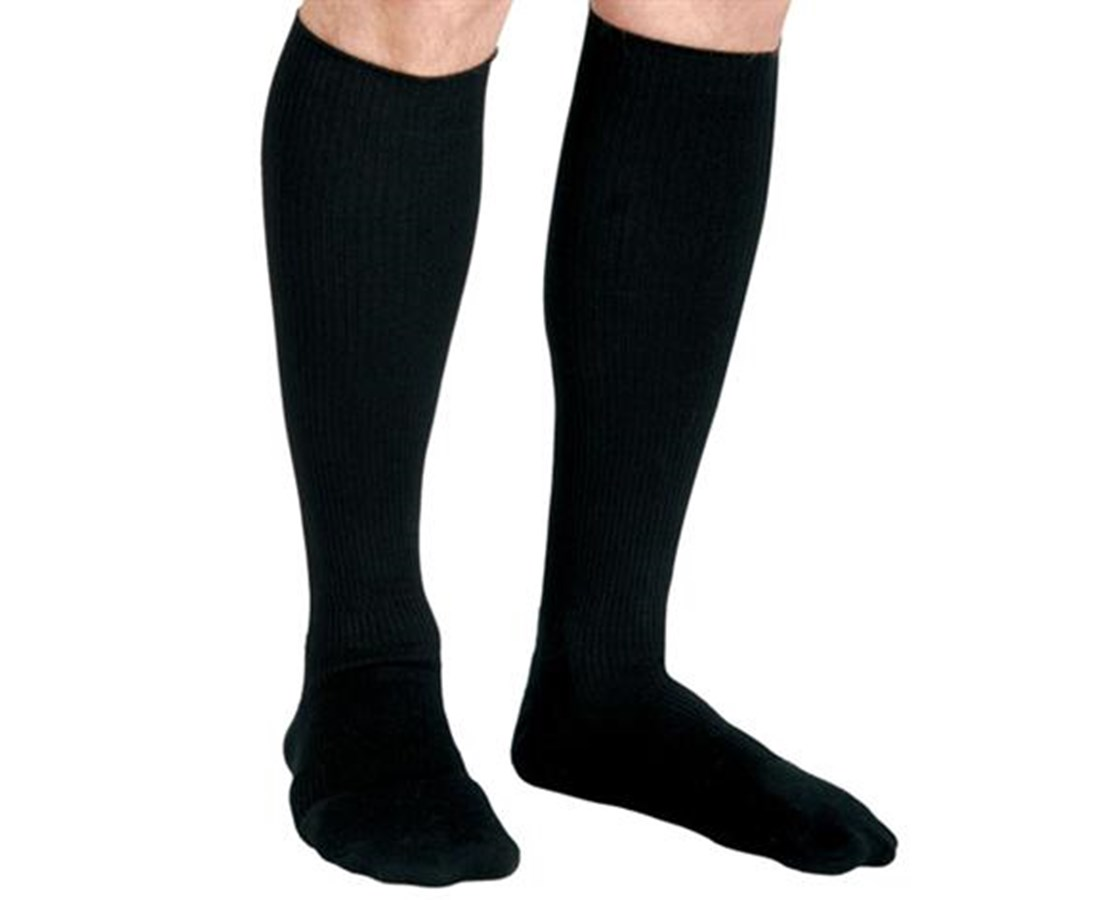 Black 20-30 mmHg Knee Length Compression Socks CURMDS1718ABH-