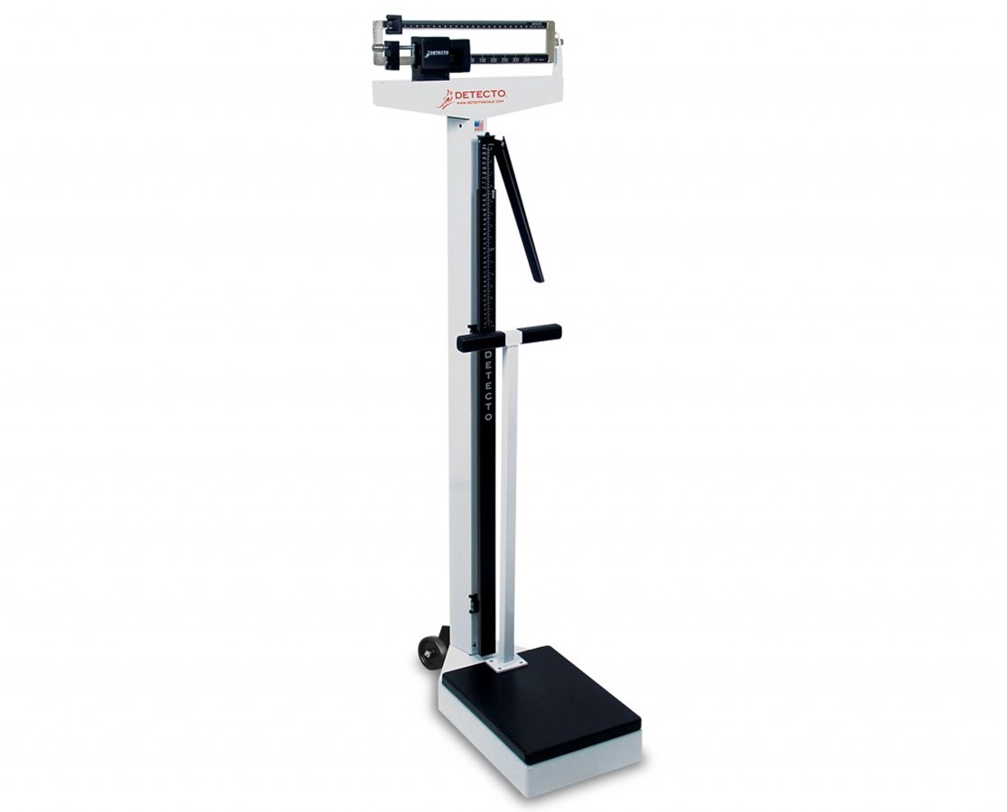 Eye Level Scale with Height Rod Wheels and Handpost DET448