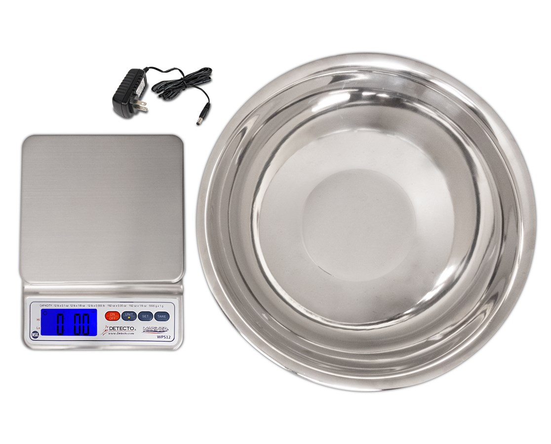 Mariner® Digital Scale with Utility Bowl DETWPS12UT