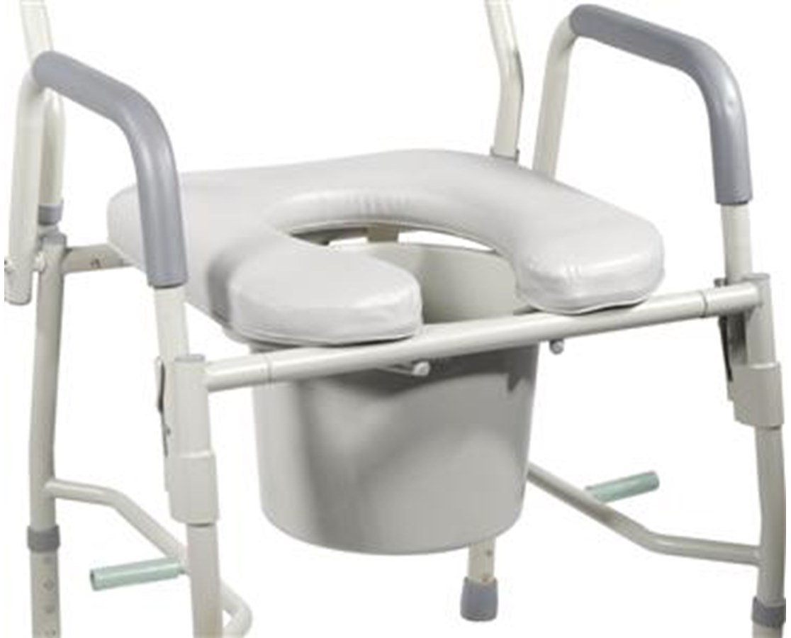 Replacement Seat for Deluxe Steel Commode DRI11125-PS