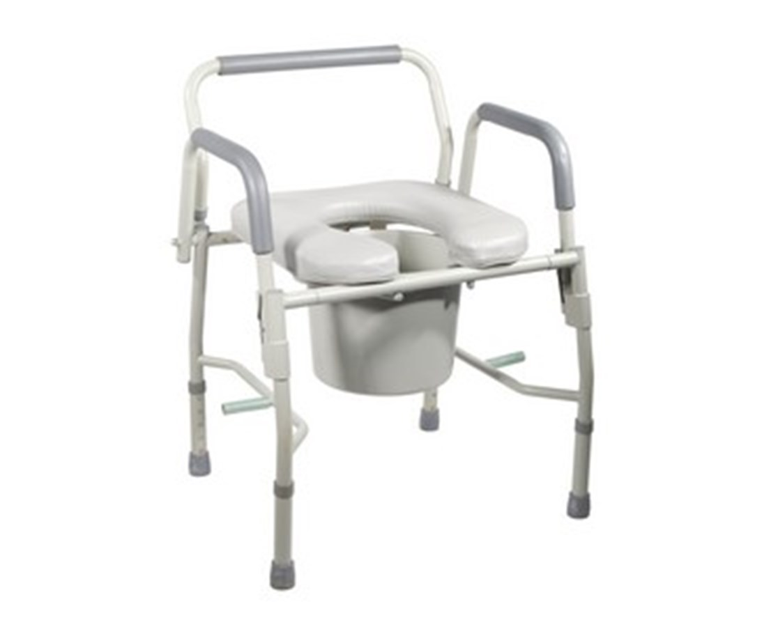 Drive 11125PSKD-1 Deluxe Steel Drop-Arm Commode