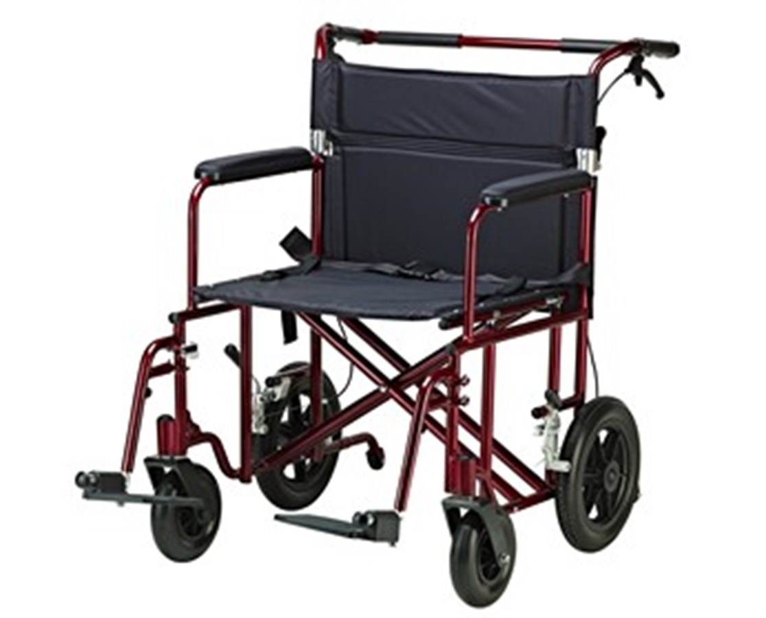Drive ATC22-R 22-Inch Bariatric Aluminum Transport Chair